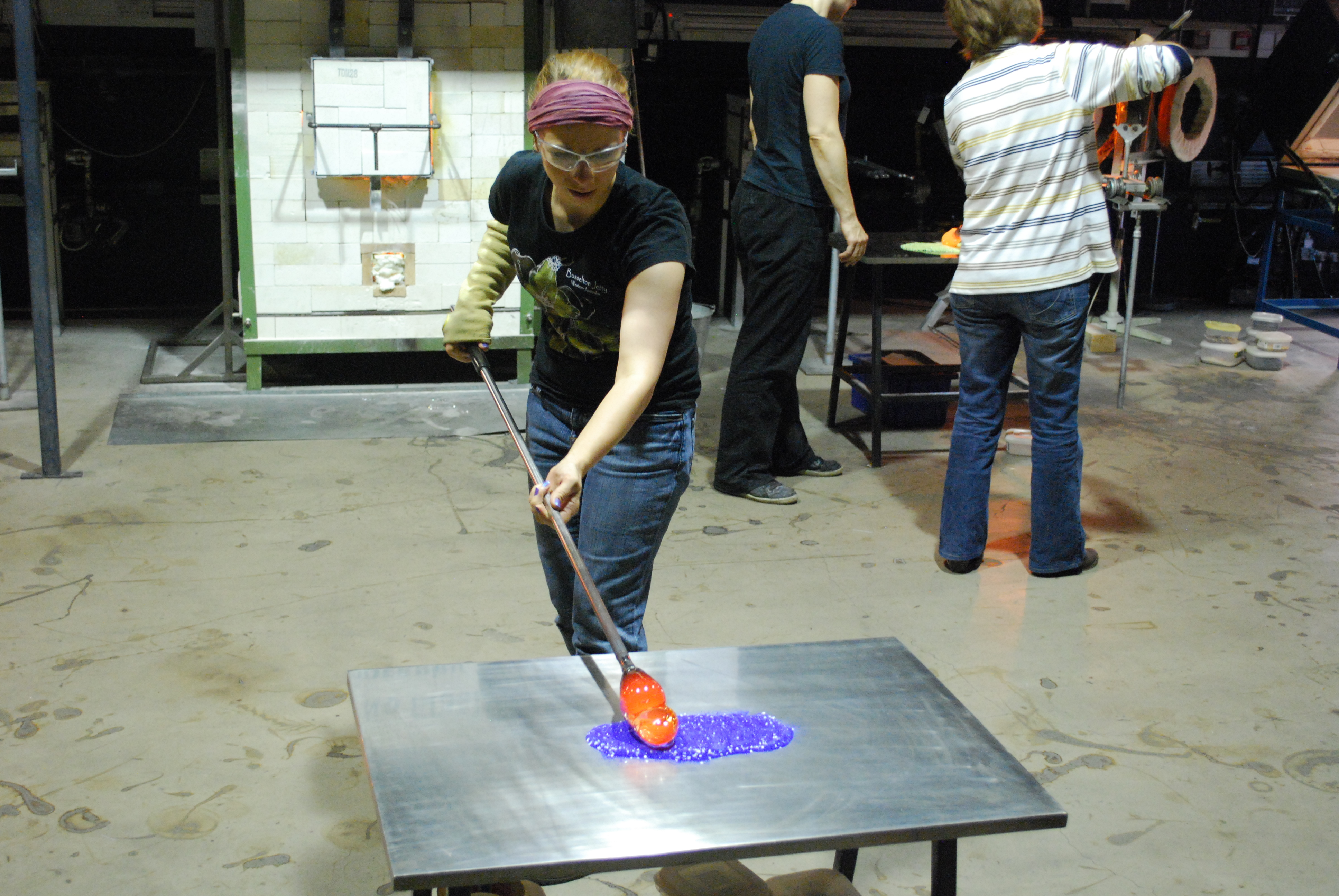 Learning to blow glass